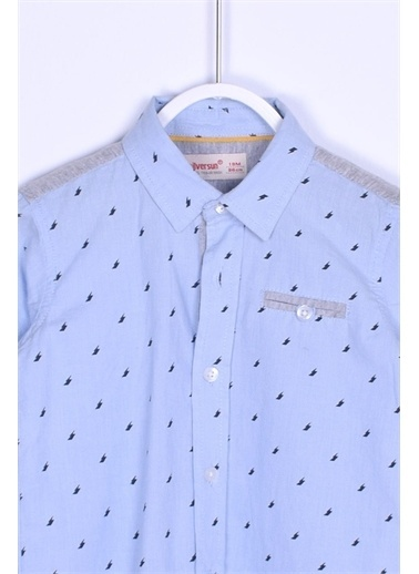 Silversun Kids Gömlek Dokuma Uzun Kollu Penye Detaylı Gömlek Bebek Erkek Gc 110152 Mavi